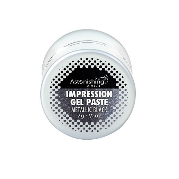 AN Impression gel pasta za nail art metallic black1
