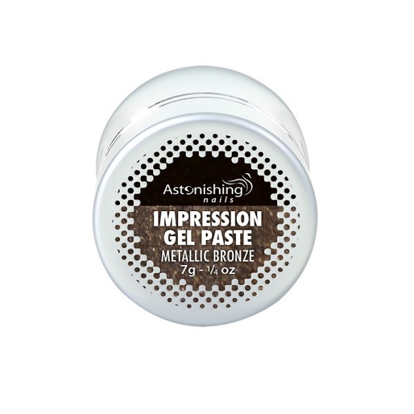 AN Impression gel pasta za nail art metallic bronze1