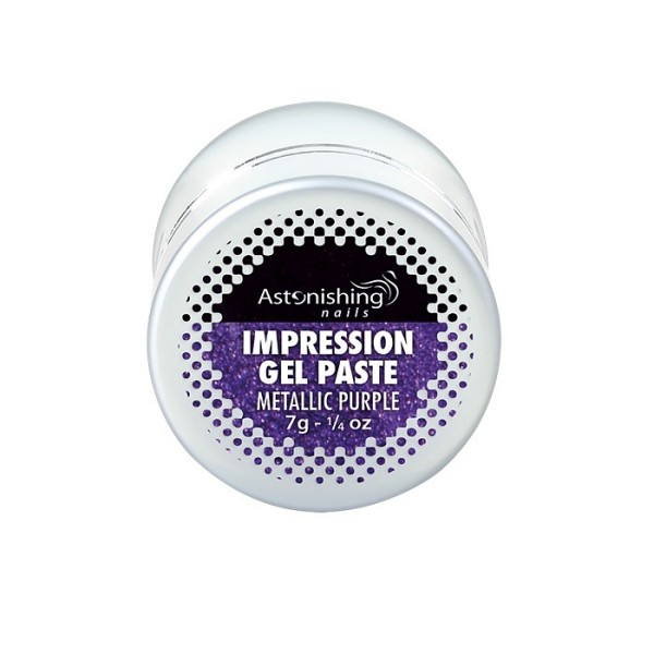 AN Impression gel pasta za nail art metallic purple1
