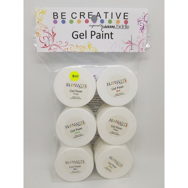 BeCreative 6pc Gel Paint kit 2