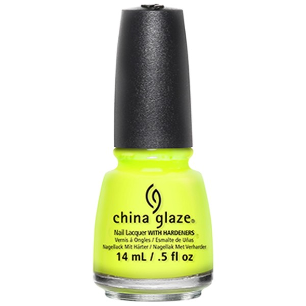 China Glaze Yellow Polka Dot Bikini 1