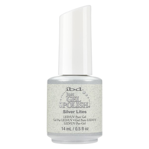 IBD Just Gel Polish št. 55, Silver Lites, 14 ml
